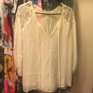 Anthro Graham and Spencer embellished blouse S